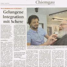 Friseur Wachter, Chiemgau Zeitung, April 2018
